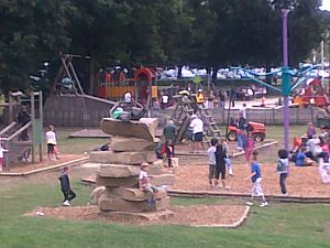 Picture of new climbing rocks at Sandhurst Memorial Park