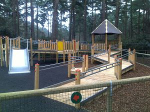 The Look Out play area inclusive play equipment funded through Playbuilder and Aiming High.