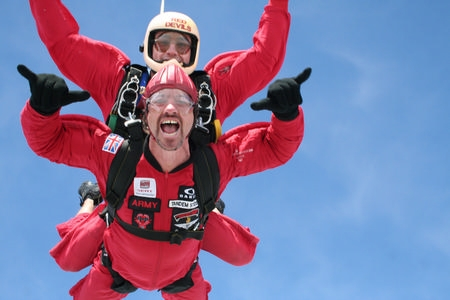 Celebrate World Hospice Day by Skydiving with the Red Devils