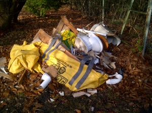 Fly tipping Deepcut