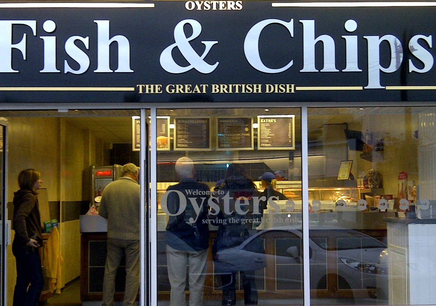 Oysters fish chips surrey heath residents network for The fish shop