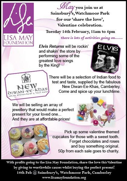 Lisa May Foundation - Valentines at Sainsbury's Watchmoor Park 12