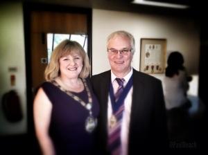 The Mayor of Surrey Heath Cllr Beverley Harding and her Consort Mr Malcolm Harding