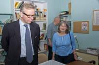 Michael Gove visit to the Surrey Heath Archaeology & Heritage Trust Centre - Mike Hillman (14)