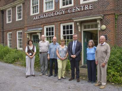 Michael Gove visit to the Surrey Heath Archaeology & Heritage Trust Centre - Mike Hillman (23)