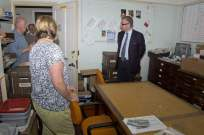Michael Gove visit to the Surrey Heath Archaeology & Heritage Trust Centre - Mike Hillman (5)