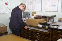 Michael Gove visit to the Surrey Heath Archaeology & Heritage Trust Centre - Mike Hillman (6)