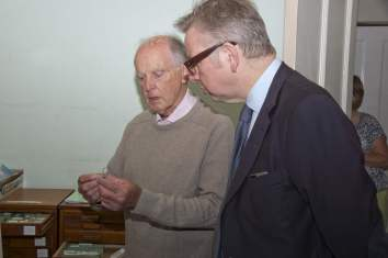 Michael Gove visit to the Surrey Heath Archaeology & Heritage Trust Centre - Mike Hillman (7)