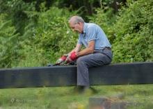 Canal volunteers, Lock 15 (2)