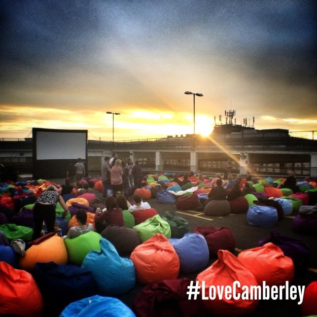 Love Camberley Rooftop Cinema - 2014