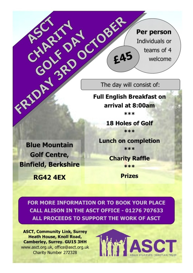 ASCT Charity Golf Day - Oct 2014