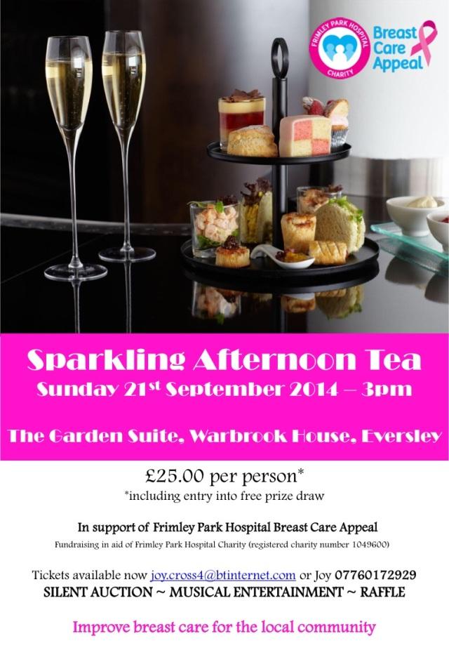 Sparkling Afternoon Tea - Breast Care Appeal - Frimley Park Hospital