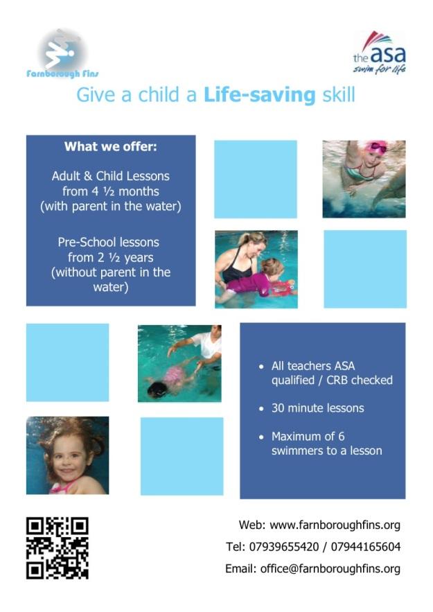 Farnborough Fins - Pre School Poster