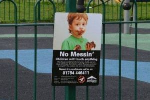 Spelthorne Borough Council's anti-dog fouling poster