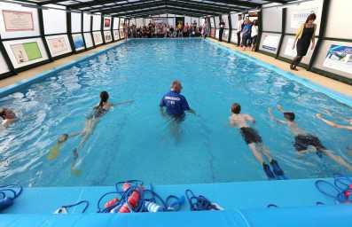 Farnborough Fins pool opening 40