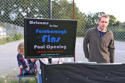 Farnborough Fins pool opening 68