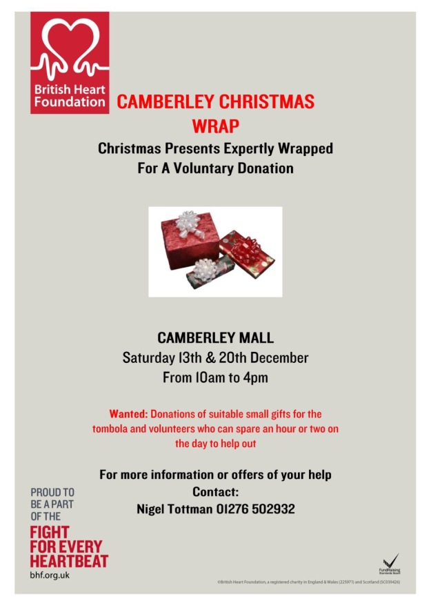 Christmas Wrapping Service - BHF