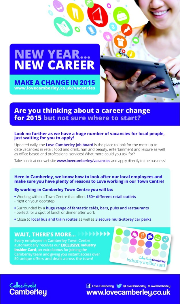 Love Camberley Job Vacancies 2015