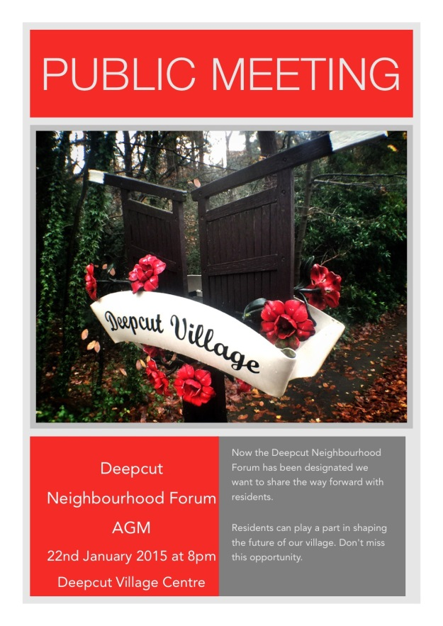 Deepcut Neighbourhood Forum AGM - 22nd Jan 15