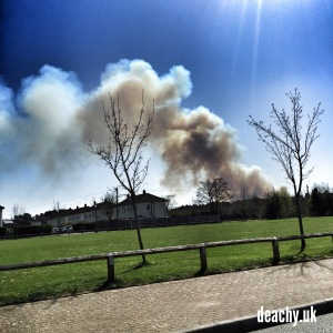 Deepcut Heath Fire - 15 April 2015