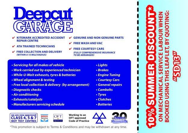 Deepcut Garage Re-Gas