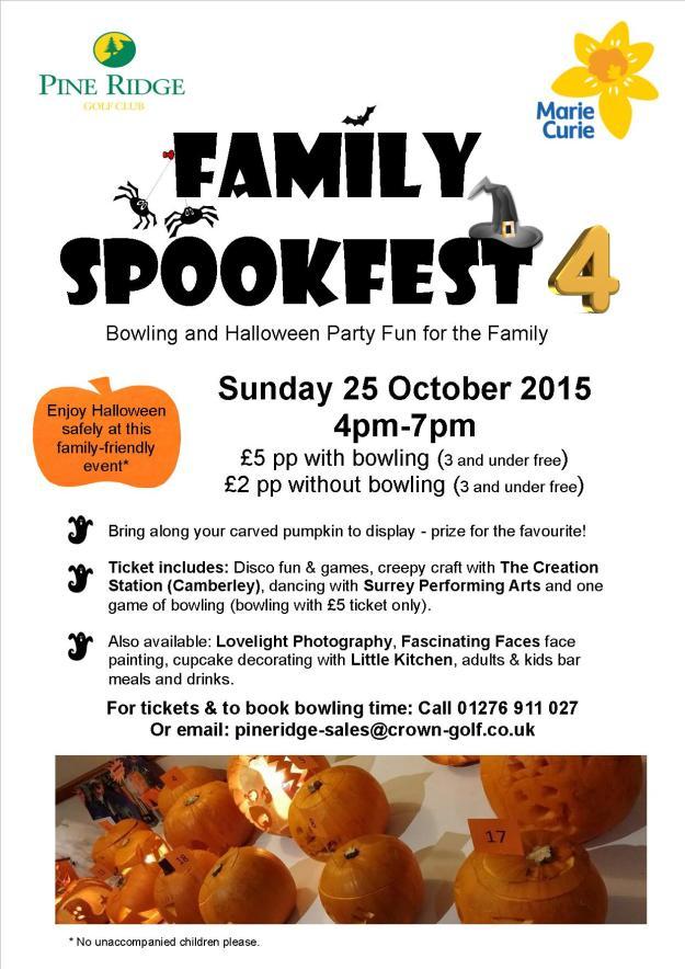 Family Spookfest poster 2015