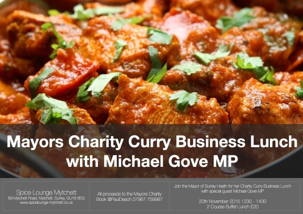 Mayors Charity Business Lunch - 20th Nov 2015