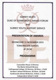 D of E Awards 2015 2