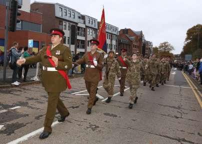 Surrey Heath Remembrance Parade 201520