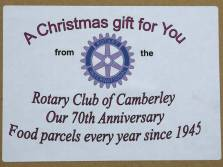 Rotary food parcels - Alan Meeks 1