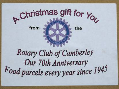Rotary food parcels - Alan Meeks 1