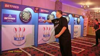 Lakeside BDO Darts 3 Jan 2016 afternoon - Alan Meeks 10